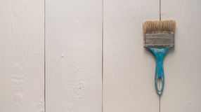 Gammal blå sjaskig texturerad borste för tappning Royaltyfri Foto