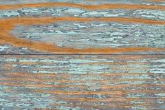 Gammal blå trätabell med grunge, abstrakt texturbakgrund Royaltyfria Foton