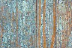Gammal blå trätabell med grunge, abstrakt texturbakgrund Royaltyfri Foto