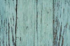 Gammal blå trätabell med grunge, abstrakt texturbakgrund Royaltyfria Bilder
