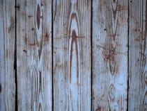 Gammal blå wood bakgrund Arkivbilder