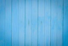 Gammal blå wood bakgrund Royaltyfria Bilder