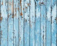 Gammal blå wood plankabakgrund. arkivbild