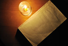 gammal blank bok royaltyfri foto