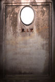 gammal blank gravestone fotografering för bildbyråer