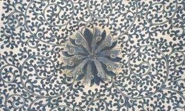 Gammal blom- texturmodellChinaware Royaltyfri Fotografi