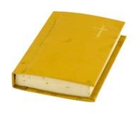 Gammal bönbok med den hårda räkningen som isoleras på vit Royaltyfri Foto