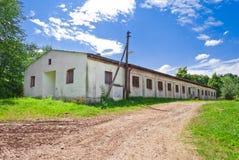 gammal boendebyggnadslantgård Fotografering för Bildbyråer