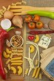 Gammal bok av recept för pasta Recept bokar Läxapasta Banta, enligt kokboken Grönsaker och pasta Arkivfoto