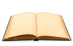 Gammal bok (forntida bok) på vit bakgrund Arkivfoto