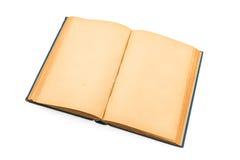 Gammal bok (forntida bok) på vit bakgrund Royaltyfria Bilder