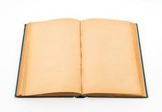 Gammal bok (forntida bok) på vit bakgrund Arkivbild