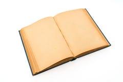 Gammal bok (forntida bok) på vit bakgrund Fotografering för Bildbyråer