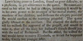 Gammal bok, 1759, genom att använda bokstav f för bokstav s Fotografering för Bildbyråer