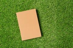 Gammal bok på grönt gräs Royaltyfria Bilder