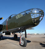 gammal bombplan royaltyfria foton