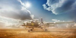 gammal bombplan Fotografering för Bildbyråer