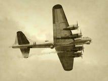 gammal bombplan Arkivbilder