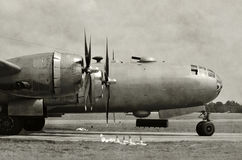 Gammal bombplannäsa Royaltyfria Foton