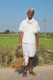 Gammal bonde i india Royaltyfri Foto
