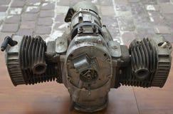 Gammal boxaremotor Arkivbild