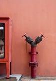 gammal brandpost Fotografering för Bildbyråer