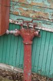 gammal brandpost royaltyfria foton