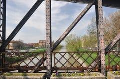 Gammal bro från Timisoara Rumänien royaltyfri bild