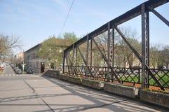 Gammal bro från Timisoara Rumänien royaltyfria foton