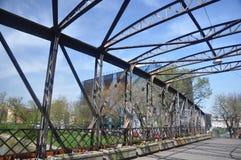 Gammal bro från Timisoara Rumänien arkivbild