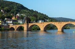 Gammal bro, Heidelberg Arkivfoton