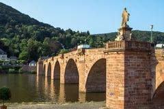Gammal bro, Heidelberg Arkivbild