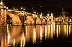 Gammal bro, Heidelberg Royaltyfri Bild