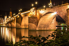 Gammal bro, Heidelberg Royaltyfri Fotografi