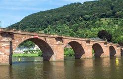 Gammal bro, Heidelberg Royaltyfria Bilder