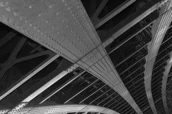 Gammal bro i Lyon arkivbild