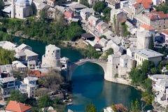 Gammal bro i Mostar Arkivbild