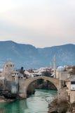 Gammal bro i Mostar Bosnien och Hercegovina Royaltyfria Bilder