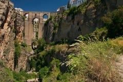 Gammal bro i Ronda Royaltyfri Foto