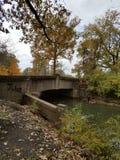Gammal bro på Belle Isle, Detroit, Michigan arkivbilder