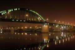 Gammal bro på floden Sava Arkivfoton