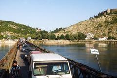 Gammal bro på ingången till Skadar Fotografering för Bildbyråer