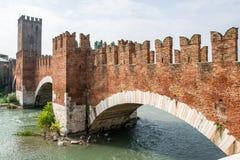 Gammal bro verona Fotografering för Bildbyråer