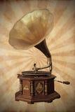 Gammal bronze grammofon Arkivfoton