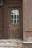 gammal brun dörr Fotografering för Bildbyråer
