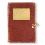 Gammal brun dagbok Arkivbilder