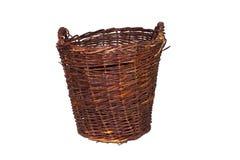 Gammal brun korg Fotografering för Bildbyråer