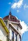 Gammal brun kupolformig kyrka i Martinique Arkivbilder