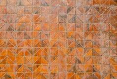 Gammal brun tegelstentriangel Royaltyfria Bilder