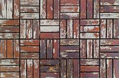 Gammal brun textur som är trä av parkettgolvet, detaljerad bakgrund Royaltyfri Fotografi